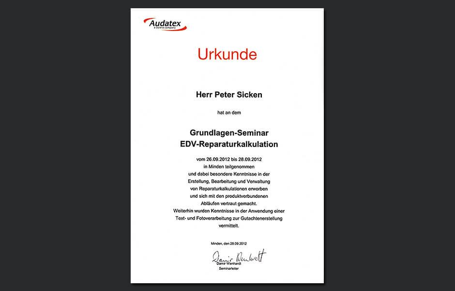 Seminar EDV-Reparaturkalkulation